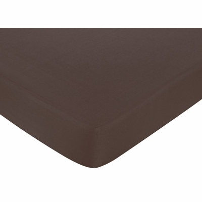 Hotel Pink and Brown Collection Crib Sheet - Solid Brown