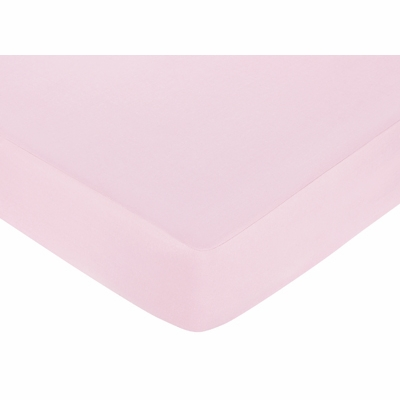 Hotel Pink and Brown Collection Crib Sheet - Solid Pink