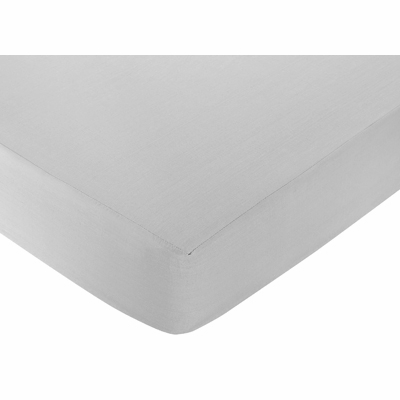Hotel White and Gray Collection Crib Sheet - Gray