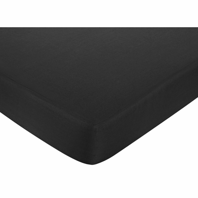 Isabella Hot Pink, Black and White Collection Fitted Crib Sheet - Black