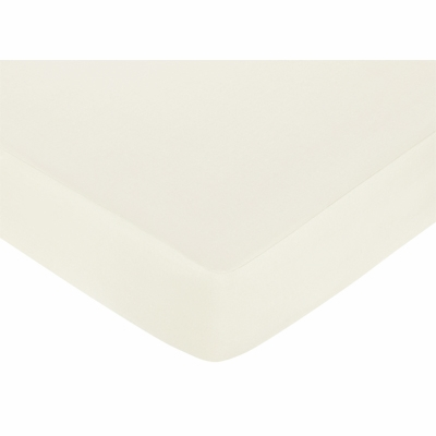 Standard Crib and Toddler Sheet - Solid Ivory Cotton