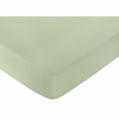 Jungle Adventure Crib Sheet - Solid Green