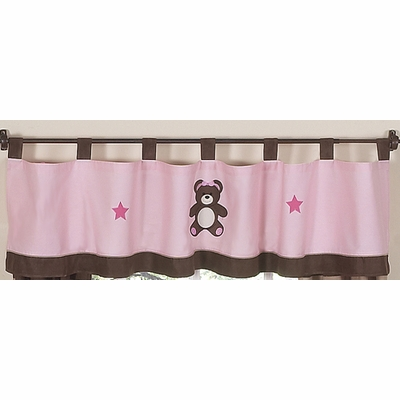 Teddy Bear Pink Window Valance
