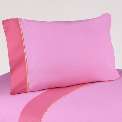 Butterfly Pink and Orange Twin Sheet Set
