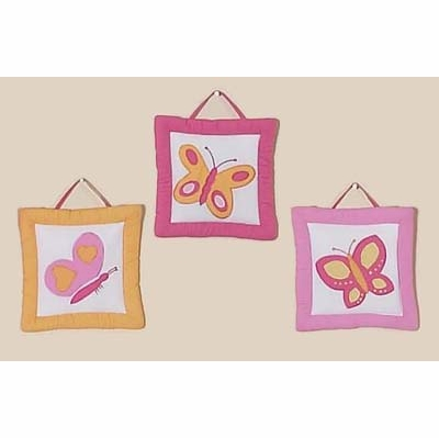 Butterfly Pink and Orange Wall Hangings