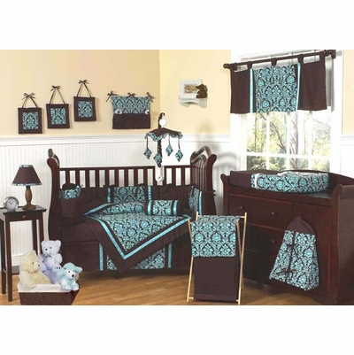 Bella Turquoise Crib Bedding Collection