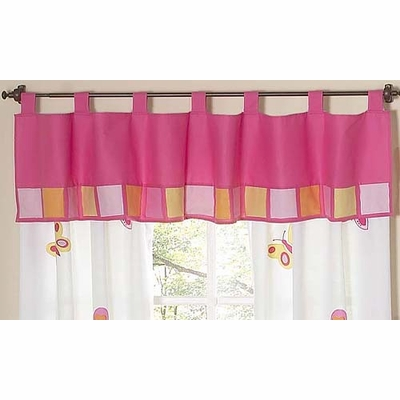 Butterfly Pink and Orange Window Valance