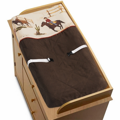 Wild West Cowboy Changing Pad Cover