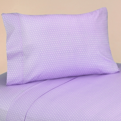 Mod Dots Purple Queen Sheet Set