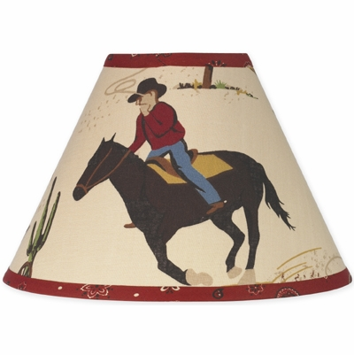 Wild West Cowboy Lamp Shade