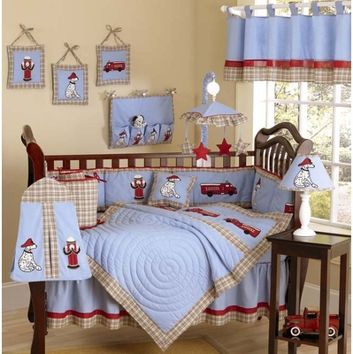 Fire Truck Crib Bedding Collection