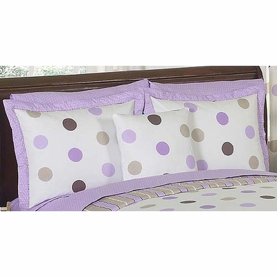 Mod Dots Purple Pillow Sham