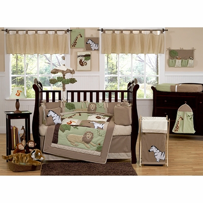 Jungle Adventure Crib Bedding Collection
