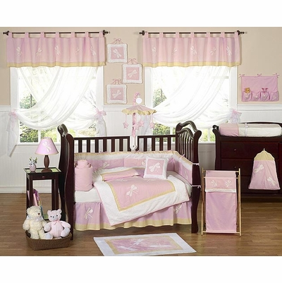 Pink Dragonfly Dreams Crib Bedding Collection