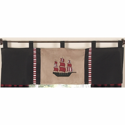 Pirate Treasure Cove Window Valance
