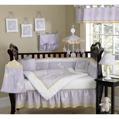 Purple Dragonfly Dreams Crib Bedding Collection