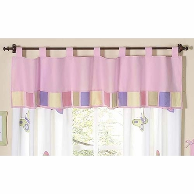Butterfly Pink and Purple Window Valance