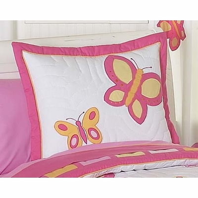 Butterfly Pink and Orange Pillow Sham