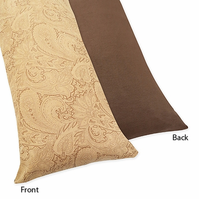 Camel Paisley Collection Full Length Body Pillow Cover