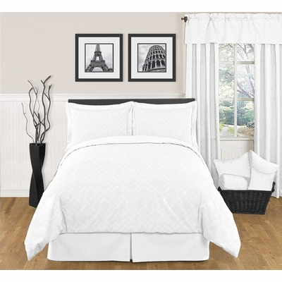 Diamond White Full/Queen Bedding Collection