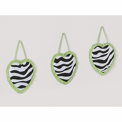 Zebra Lime Wall Hangings