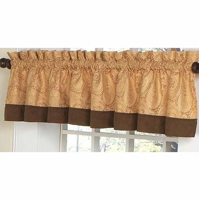 Camel Paisley Window Valance