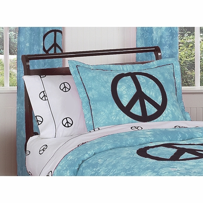 Peace Blue Pillow Sham