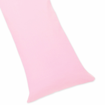 Pink Cotton Full Length Body Pillow Cover