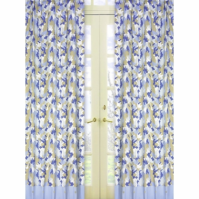 Camo Blue Window Panels - Set of 2