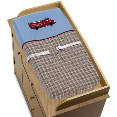 Fire Truck Changing Pad Cover