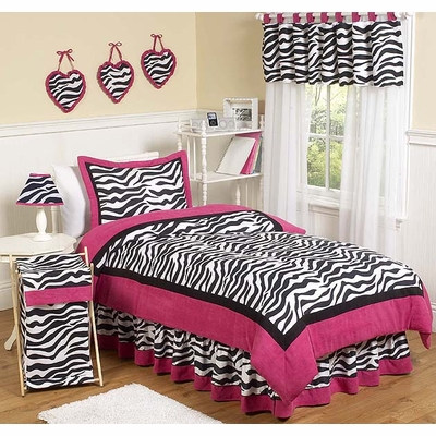 Zebra Pink Twin Bedding Collection