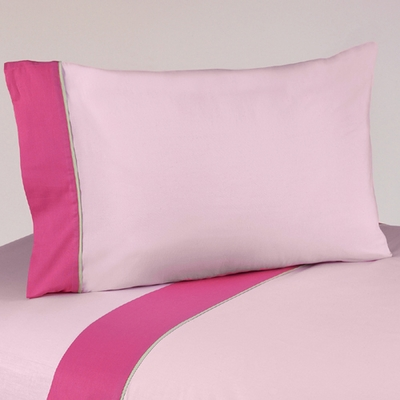 Flower Pink and Green Twin Sheet Set