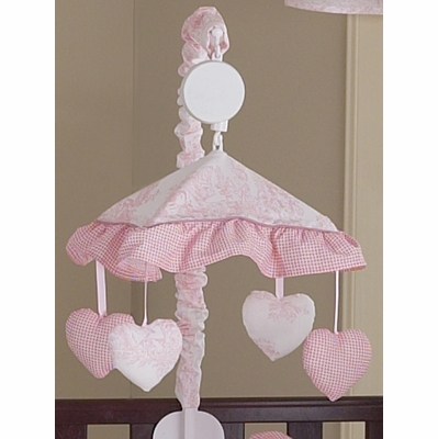 Pink Toile Musical Mobile