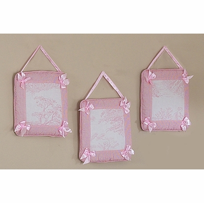 Pink Toile Wall Hangings