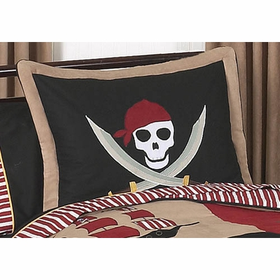Pirate Treasure Cove Pillow Sham