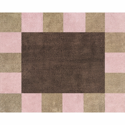 Soho Pink and Brown and Brown Accent Floor Rug