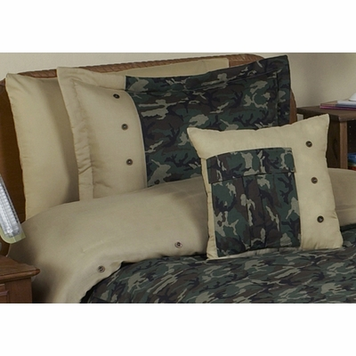 Camo Green Pillow Sham