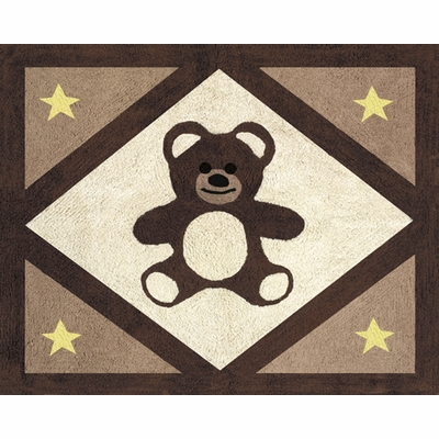 Teddy Bear Chocolate Accent Floor Rug
