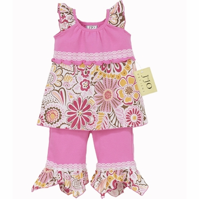 Designer 2pc Pink Hankie Outfit