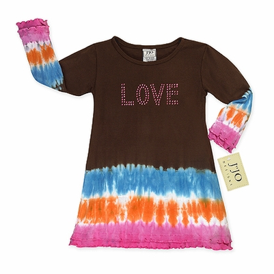 Crystal Love Tie Dye Infant Baby Dress