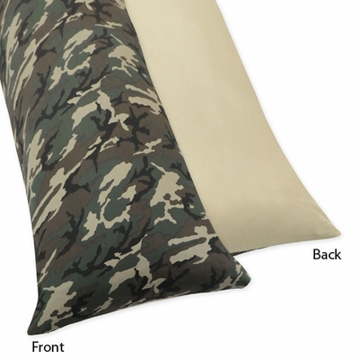 Camo Green Collection Full Length Body Pillow Cover