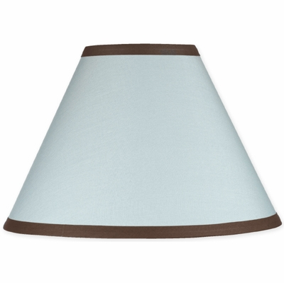 Hotel Blue and Brown Lamp Shade