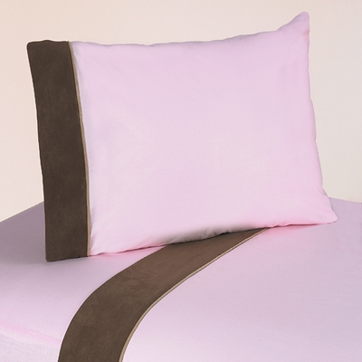 Soho Pink and Brown Queen Sheet Set
