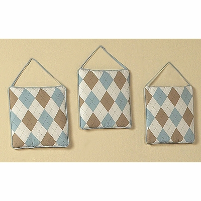 Argyle Blue Cocoa Wall Hangings