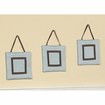 Hotel Blue and Brown Wall Hangings