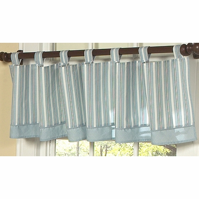 Argyle Blue Cocoa Window Valance