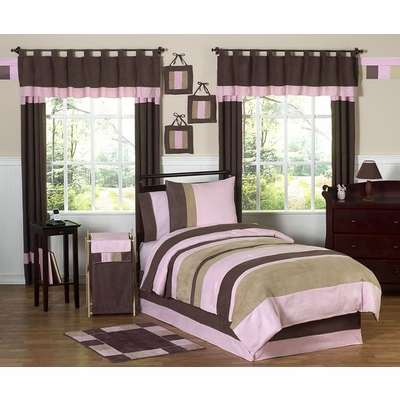 Soho Pink and Brown Twin Bedding Collection