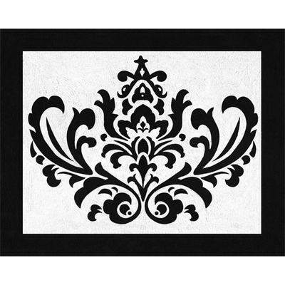 Isabella Black and White Collection Accent Floor Rug