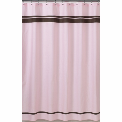 Hotel Pink and Brown Shower Curtain
