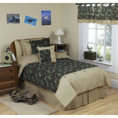 Camo Green Twin Bedding Collection